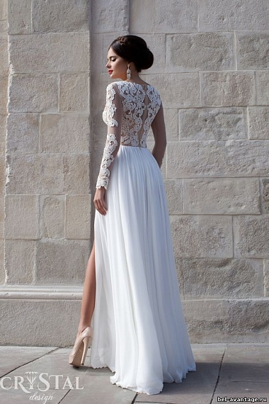 9f5b31ef289022c Свадебные платья прямого силуэта, с кружевом